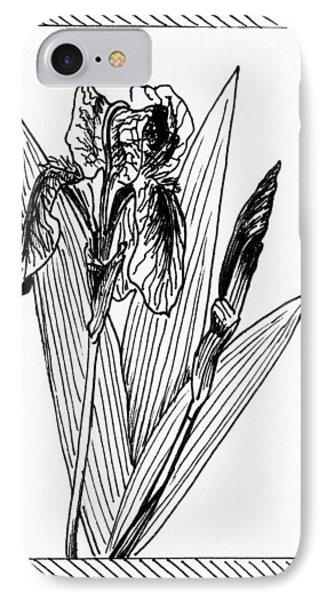 Graphic Iris IPhone Case by Masha Batkova
