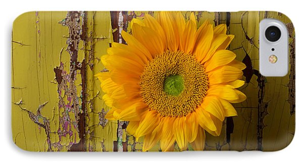 Graphic Sunflower IPhone Case by Garry Gay