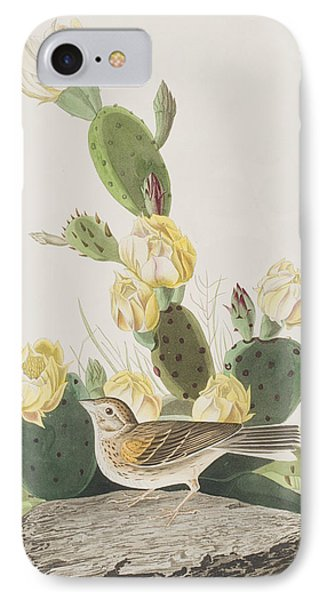 Grass Finch Or Bay Winged Bunting IPhone 7 Case by John James Audubon