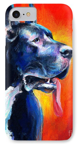 Great Dane Dog Portrait IPhone 7 Case by Svetlana Novikova