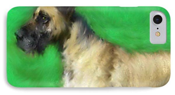 Great Dane Portrait  IPhone Case by Enki Art