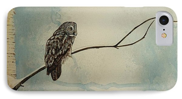 Great Gray Owl Phone Case by Lucy Deane