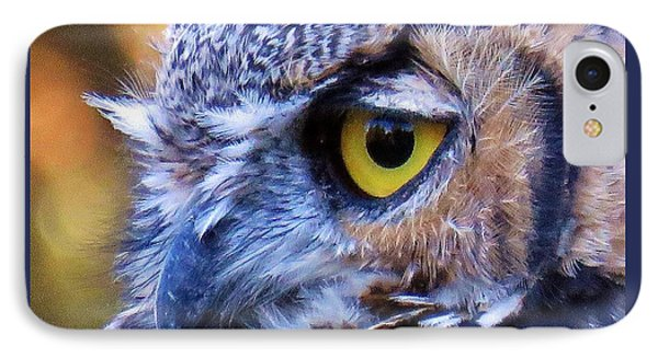 Great Horned Owl Macro 2 IPhone Case by Michele Penner