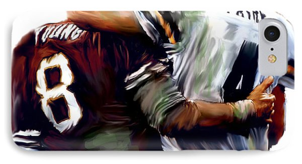 Greatness  Brett Favre And Steve Young  Phone Case by Iconic Images Art Gallery David Pucciarelli