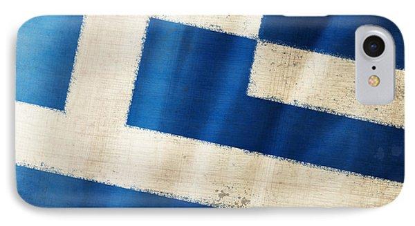 Greece Flag IPhone Case by Setsiri Silapasuwanchai