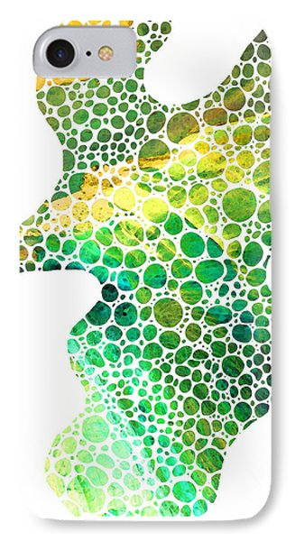 Green Abstract Art - Colorforms 4 - Sharon Cummings IPhone Case by Sharon Cummings