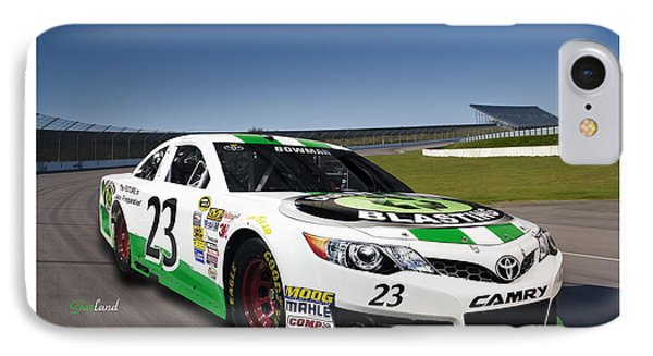 Green And White Toyota In 3d With White Frame IPhone Case by Garland Johnson