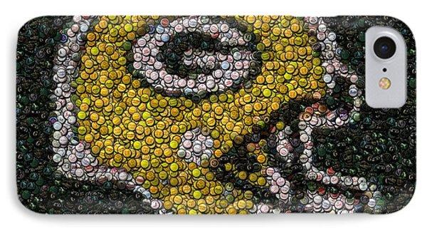 Green Bay Packers Bottle Cap Mosaic IPhone Case by Paul Van Scott