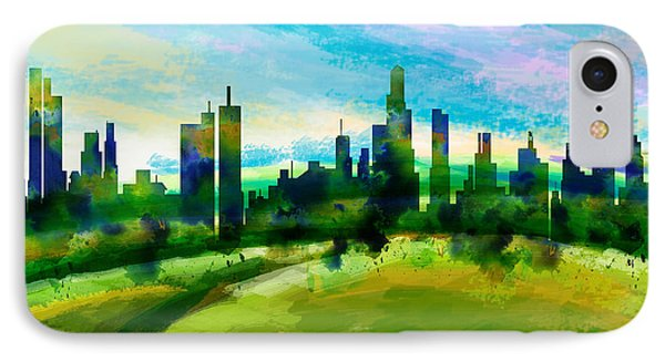 Green City IPhone Case by Bedros Awak