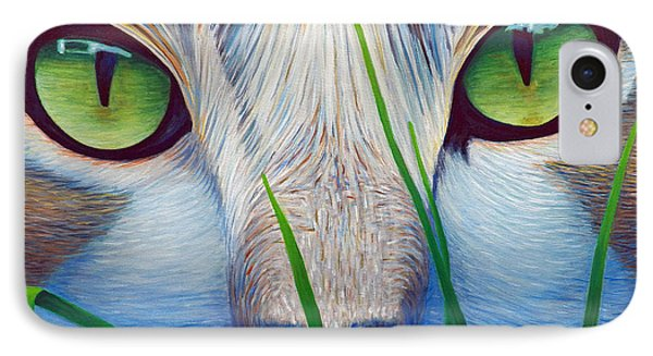 Green Eyes IPhone Case by Brian  Commerford