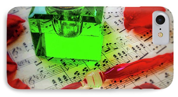 Green Ink Well And Red Pen IPhone Case by Garry Gay