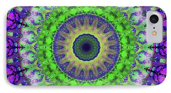 Green Light Mandala Art By Sharon Cummings IPhone Case by Sharon Cummings