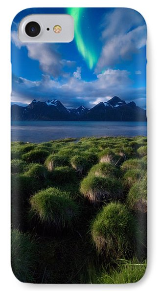 Green Night IPhone Case by Tor-Ivar Naess