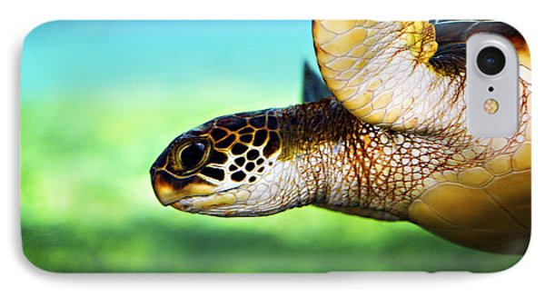 Green Sea Turtle IPhone Case by Marilyn Hunt