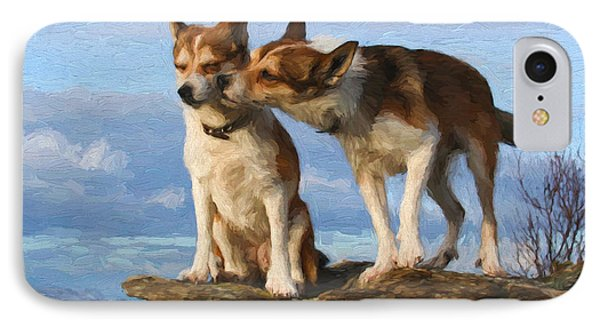 Grooming Dogs IPhone Case by Garland Johnson