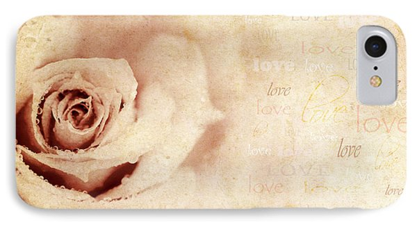 Grungy Rose Background Phone Case by Anna Om