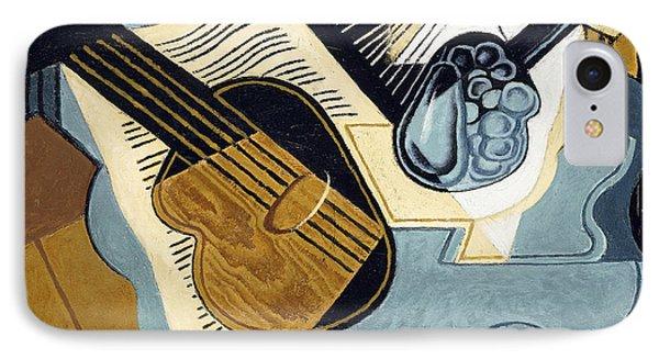 Guitar And Fruit Bowl IPhone Case by Juan Gris