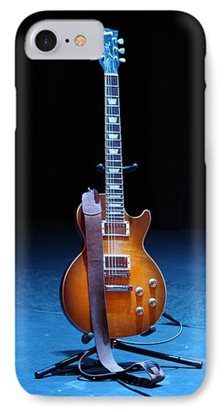 Guitar Blue Phone Case by Lauri Novak