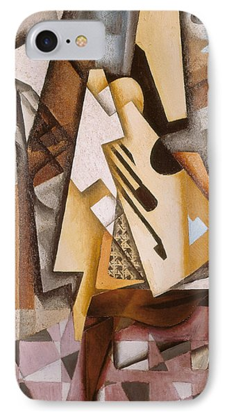 Guitar On A Chair IPhone Case by Juan Gris