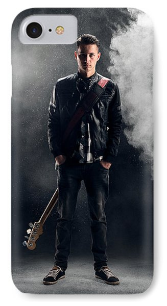 Guitarist IPhone Case by Johan Swanepoel
