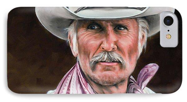 Gus Mccrae Texas Ranger IPhone 7 Case by Rick McKinney