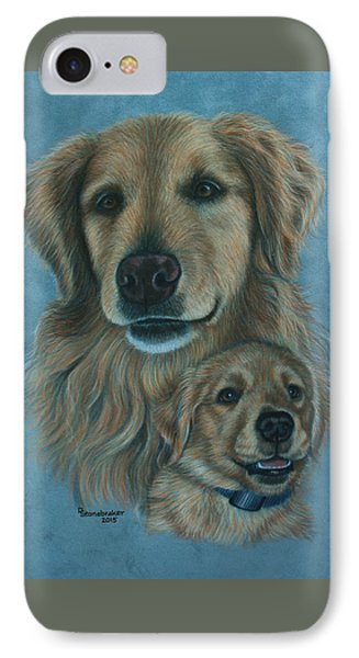 Gussy Before And After IPhone Case by Debbie Stonebraker
