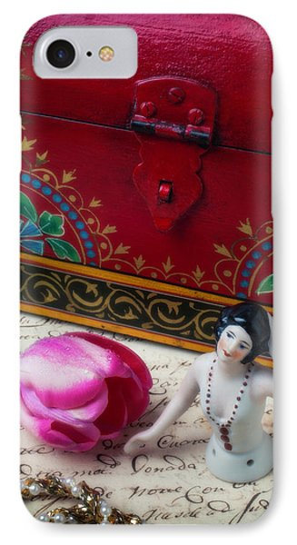 Half Doll With Red Chest IPhone Case by Garry Gay