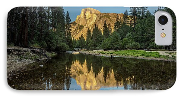 Half Dome From  The Merced IPhone Case by Peter Tellone