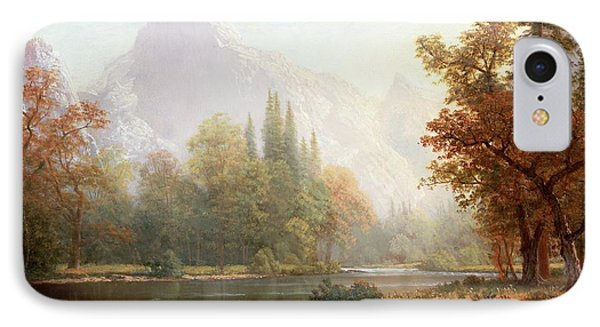 Half Dome Yosemite IPhone Case by Albert Bierstadt