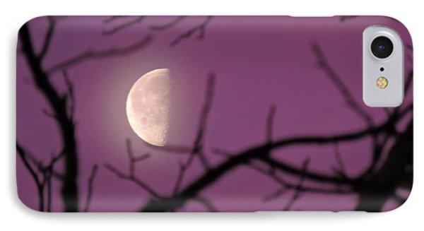 Half-moon In Sunrise Lavender IPhone Case by Jamie K Reaser