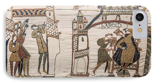 Halleys Comet Of 1066, Bayeux Tapestry IPhone Case by Science Source