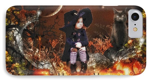 Halloween Girl IPhone Case by Mo T