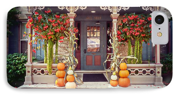 Halloween In A Small Town Phone Case by Mary Machare