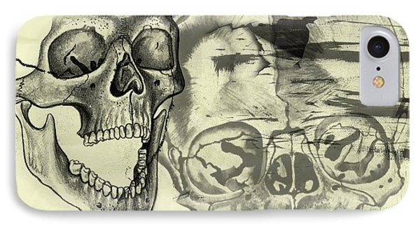 Halloween In Grunge Style Phone Case by Michal Boubin
