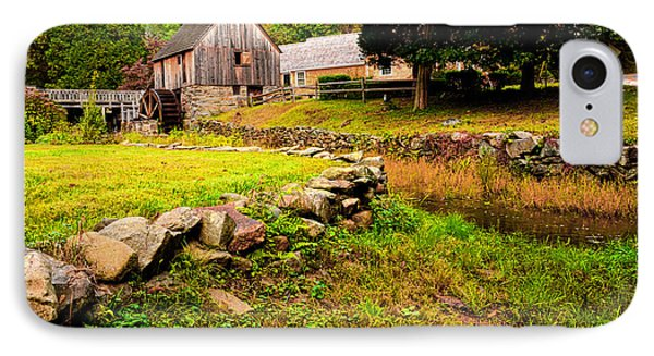 Hammond Gristmill Rhode Island - Colored Version IPhone Case by Lourry Legarde