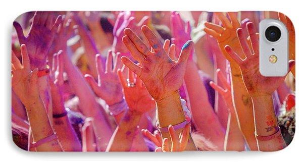 Hands Up IPhone Case by Okan YILMAZ