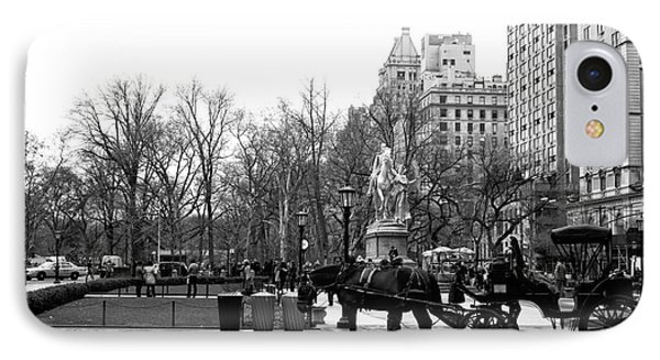 Handsome Cab At The Grand Army Plaza IPhone Case by John Rizzuto