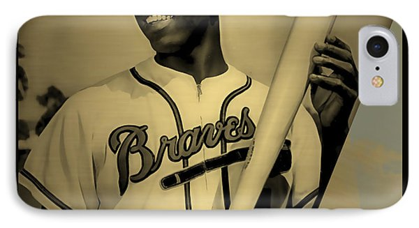 Hank Aaron Collection IPhone Case by Marvin Blaine