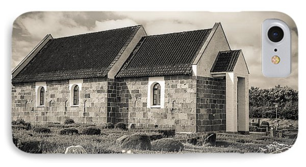 Hansted Kirke Bw IPhone Case by Eric Sloan