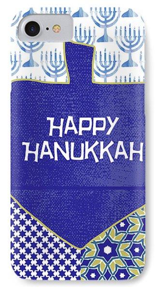 Happy Hanukkah Dreidel 1- Art By Linda Woods IPhone Case by Linda Woods