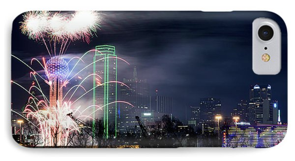 Happy New Year Dallas 2017 V2 IPhone Case by Rospotte Photography
