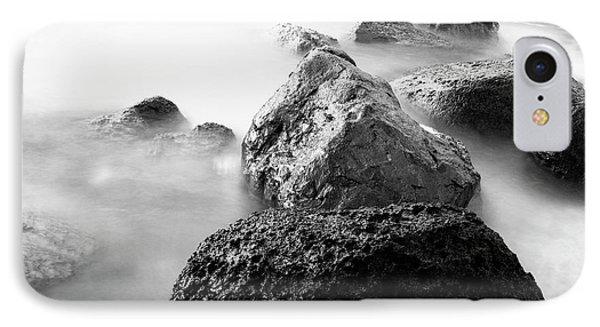 Harbor Rocks And Misty Ocean II Phone Case by Charmian Vistaunet