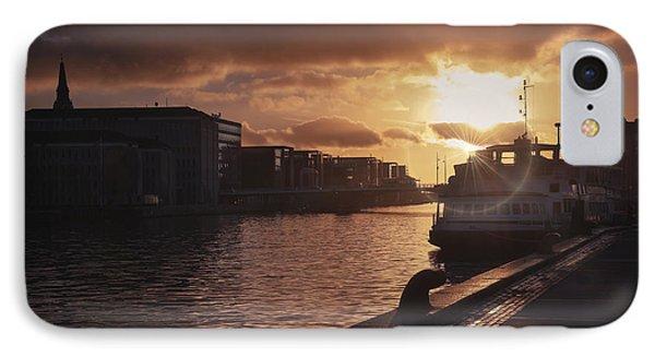 Harbour Sunset Copenhagen IPhone Case by Carol Japp