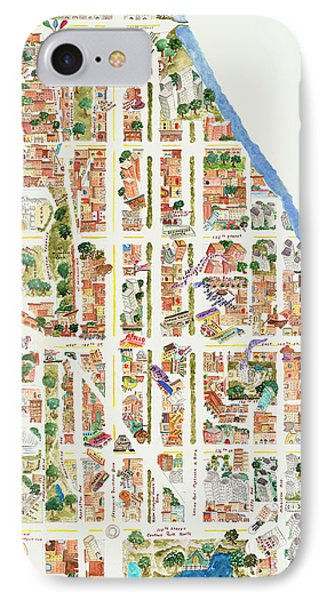 Harlem From 110-155th Streets IPhone Case by Afinelyne