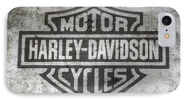 Harley Davidson Logo On Metal IPhone Case by Randy Steele