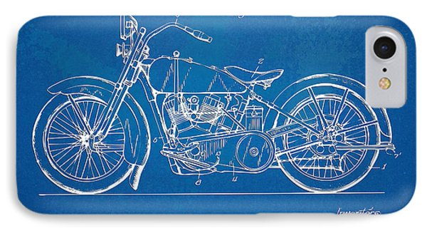 Harley-davidson Motorcycle 1928 Patent Artwork IPhone Case by Nikki Marie Smith