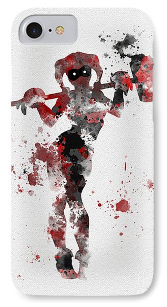 Harley Quinn IPhone Case by Rebecca Jenkins