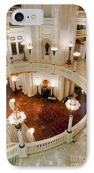 Harrisburg State Capitol Rotunda IPhone Case by Olivier Le Queinec