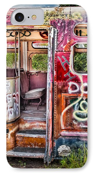 Haunted Graffiti Art Bus Phone Case by Susan Candelario