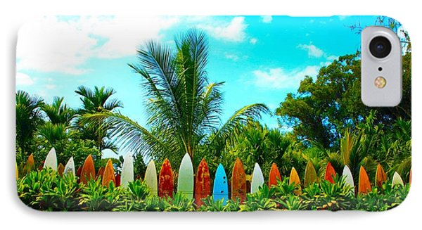 Hawaii Surfboard Fence Photograph  Phone Case by Michael Ledray